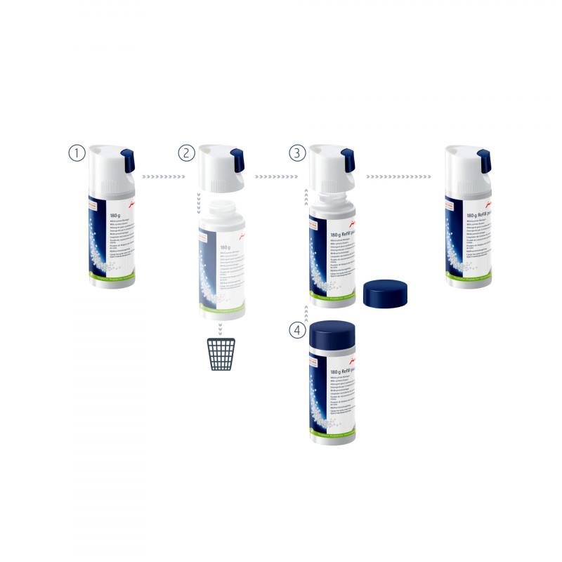 Мини-таблетки для очистки молочной системи, сменный контейнер 180г