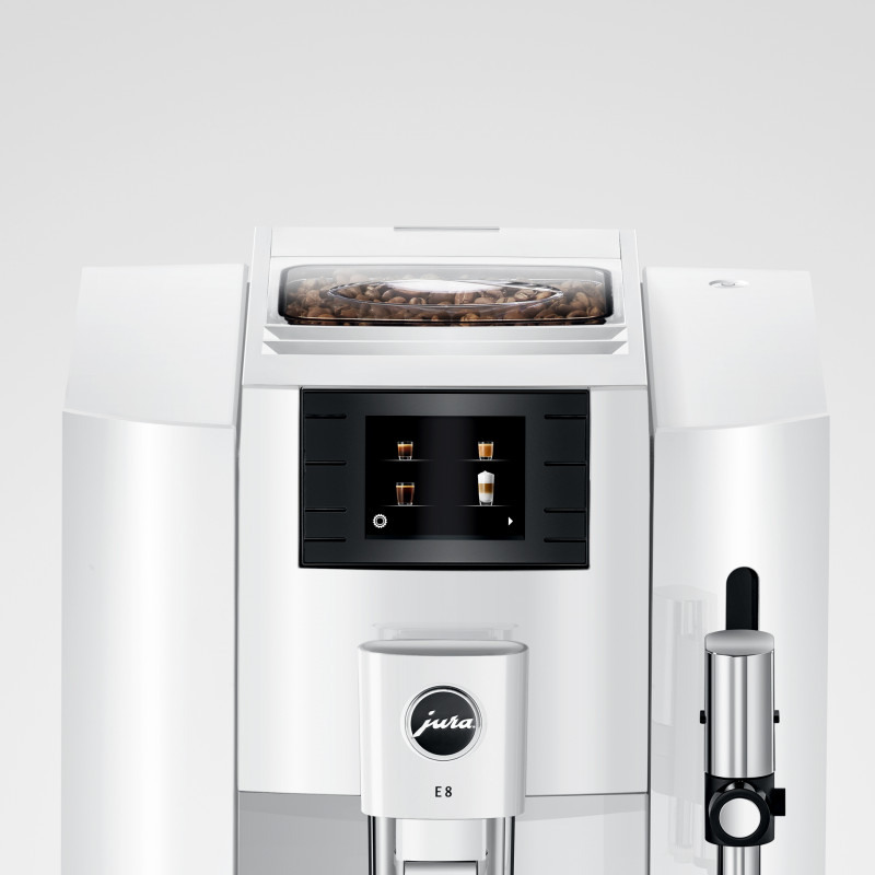 Кофемашина JURA E8 Piano White (EB) 2020